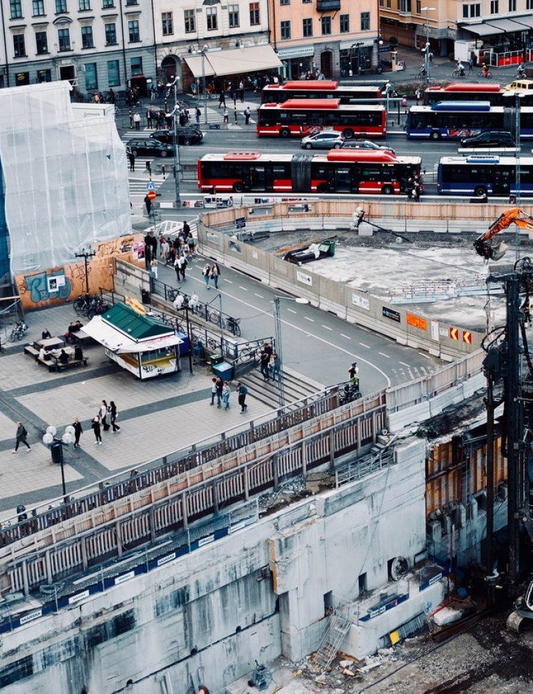 Byggeplass i sentrum